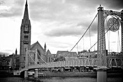 Bridge in Inverness, Scotland Royalty Free Stock Photos