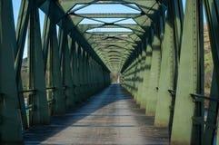 Bridge. Iron bridge over the river Pas in Cantabria, Spain Royalty Free Stock Photos