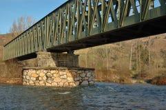 Bridge. Iron bridge over the river Pas in Cantabria, Spain Stock Images