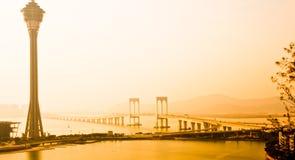 Bridge on the island stock image