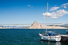 The bridge on island Krk Stock Images