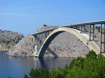 Bridge on island Krk in Croatia - Adriatic Sea Royalty Free Stock Image