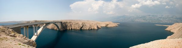 The bridge of the island of Pag Royalty Free Stock Images