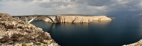 Bridge of the island of Pag Stock Photo