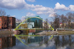 Bridge on the islands in Wroclaw, Poland Royalty Free Stock Photo