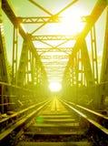 bridge järnvägen Arkivfoto