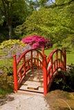 Bridge at japanese garden Stock Image