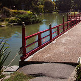 Bridge in Japanese garden Royalty Free Stock Images