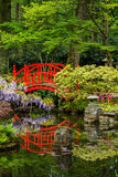 Bridge in a Japanese garden Stock Photos