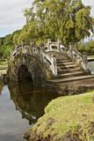 Bridge in a Japanese garden, Hawaii royalty free stock photography