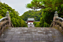 Bridge in japanese temple Royalty Free Stock Photo