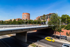 Bridge on the Ronda Litoral in Barcelona Royalty Free Stock Photos