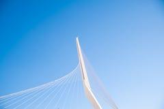 Bridge in Jerusalem. Cable stayed futuristic white bridge in Jerusalem Stock Photo