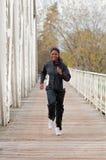 bridge jogging woman Στοκ Εικόνες