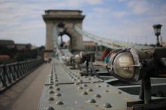 Bridge joining buda to pest Stock Images
