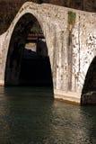 Devil`s Bridge or Ponte della Maddalena. Lucca, Borgo a Mozzano stock photos
