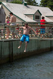 Bridge Jumping Stock Image