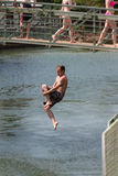 Bridge Jumping Royalty Free Stock Photos
