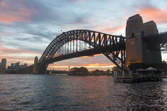 Sydney harbour bridge late afternoon Royalty Free Stock Image