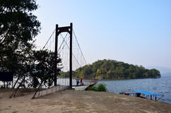 Bridge in Kaeng Krachan Dam in Kaeng Krachan National Park Stock Photo