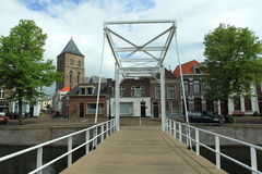 Bridge in Kampen. One of the bridges over a gracht in Kampen, Netherlands Royalty Free Stock Photography