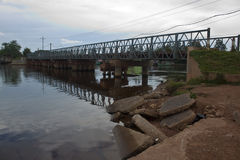 Bridge in Kampot Stock Photography