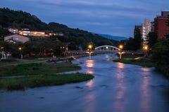 Bridge in Kanazawa, Japan at night Royalty Free Stock Image