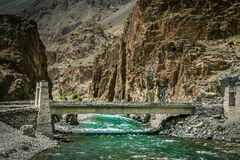 Bridge in Karakorum Royalty Free Stock Photography