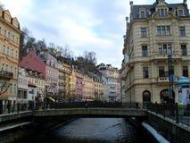 Bridge in Karlovy Vary Royalty Free Stock Photography