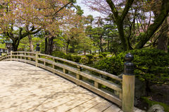Bridge in Kenroku-en gardens Stock Image