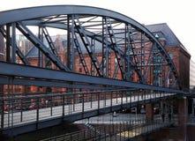Bridge Kibbelstegbrucke, Hamburg, Germany Stock Photo