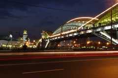 bridge kievsky moscow Royaltyfri Fotografi