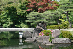 Bridge at Koko-En Gardens Royalty Free Stock Photo