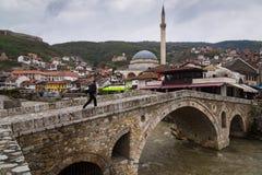Bridge in Kosovo royalty free stock photo