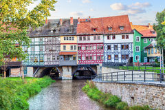 Bridge Kramerbrucke in Erfurt Stock Images