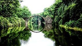 Bridge in Kromlau Royalty Free Stock Photos