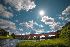 Bridge in Kuldiga, Latvia. Stock Image