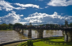 Bridge of the Kwai river.Thailand Stock Photo