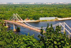 Bridge in Kyiv Ukraine Stock Images