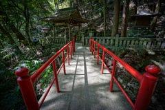 Bridge in Kyoto. A red bridge in Kyoto Stock Photography