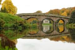 Bridge on the lake Royalty Free Stock Photography