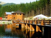 Bridge on the lake Royalty Free Stock Photo