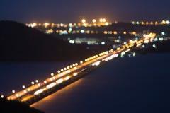 Bridge on lake Royalty Free Stock Photos