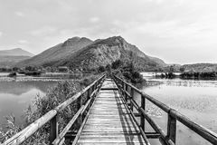 Bridge On Lake Stock Photo