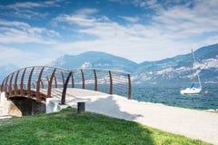 Bridge at Lake Garda Royalty Free Stock Photos