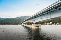 Bridge Of Lake Kawaguchiko. In autumn season Royalty Free Stock Image