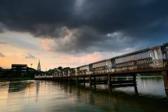 Bridge Lake. Landscape  in Ubon Ratchathani Thailand Royalty Free Stock Photo