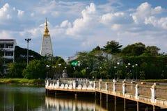 Bridge Lake. Landscape  in Ubon Ratchathani Thailand Royalty Free Stock Photos