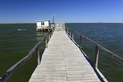 Bridge into the lake Royalty Free Stock Photos