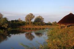 Bridge and the lake Royalty Free Stock Photography